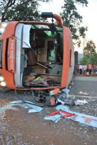 accident, road, bus