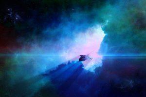 science fiction, spaceship, alien